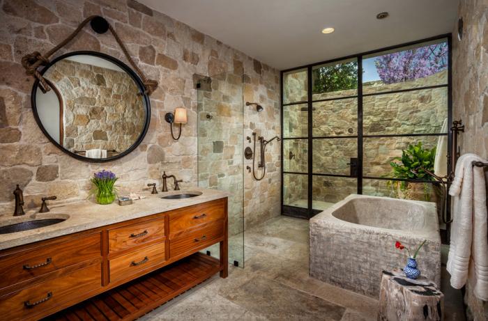 Прекрасный дизайн ванной комнаты.
