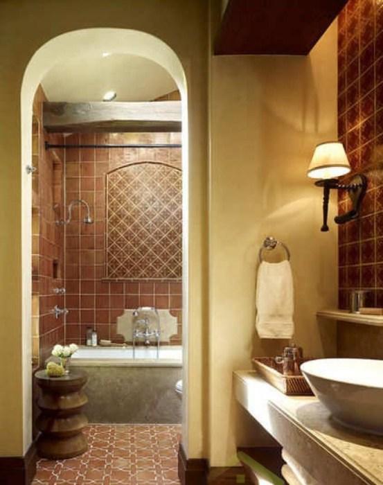 Расслабляющий интерьер ванной комнаты.