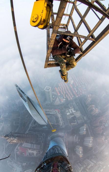 Снимок на самой высокой башне в Китае.
