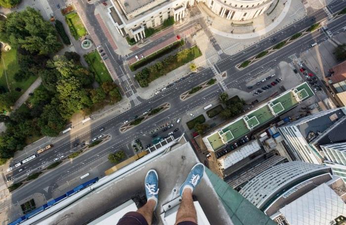Вид с одной из самых высоких крыш в Варшаве.