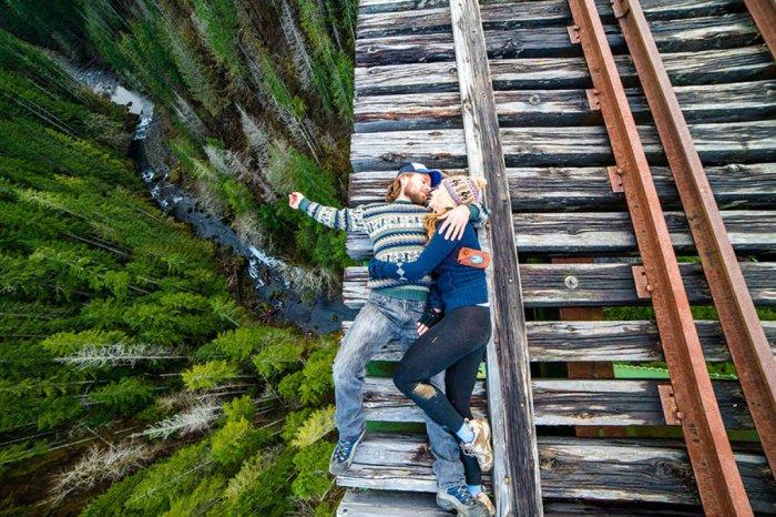 Романтическое свидание на высоте около 100 метров над землей.