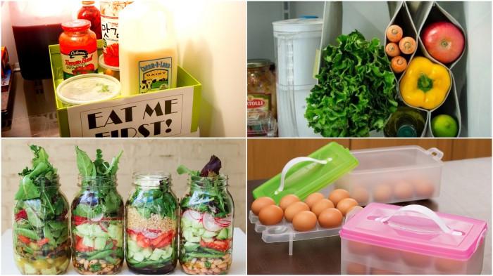 Лайфхаки для организации места в холодильнике.
