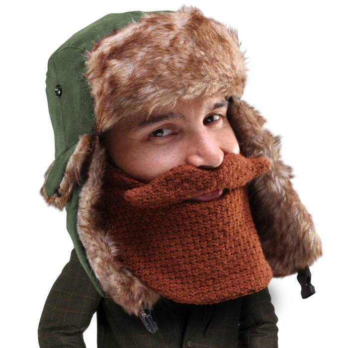 Теплая накладная борода.