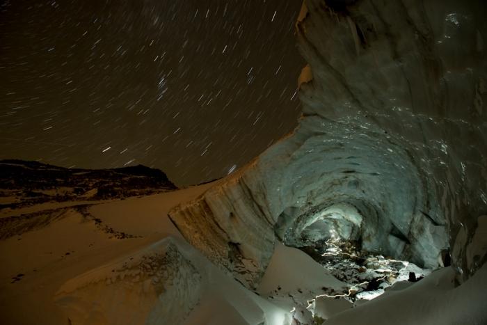 Песчаный ледник в США.