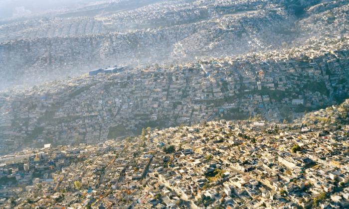 Мехико, один из самых густонаселенных городов мира.