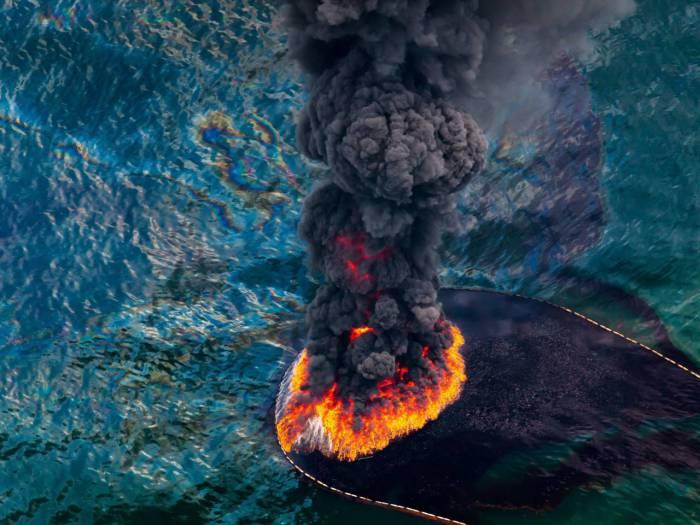 Пожар, который прошел в 2010 году.