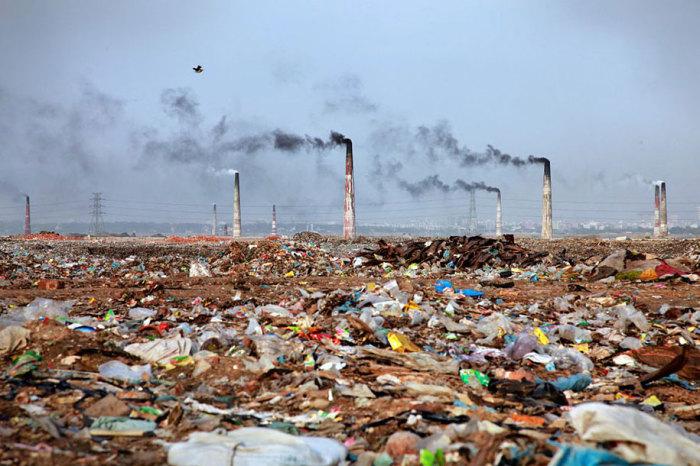 Тонны мусора, загрязняющие окружающую среду.