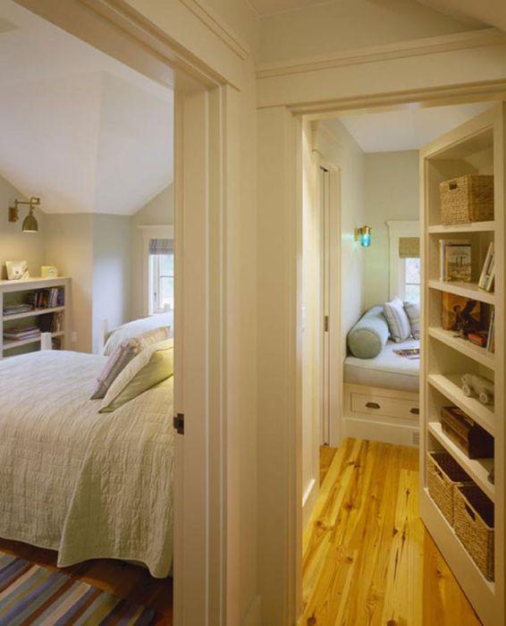 Спальня, скрытая от посторонних глаз.
