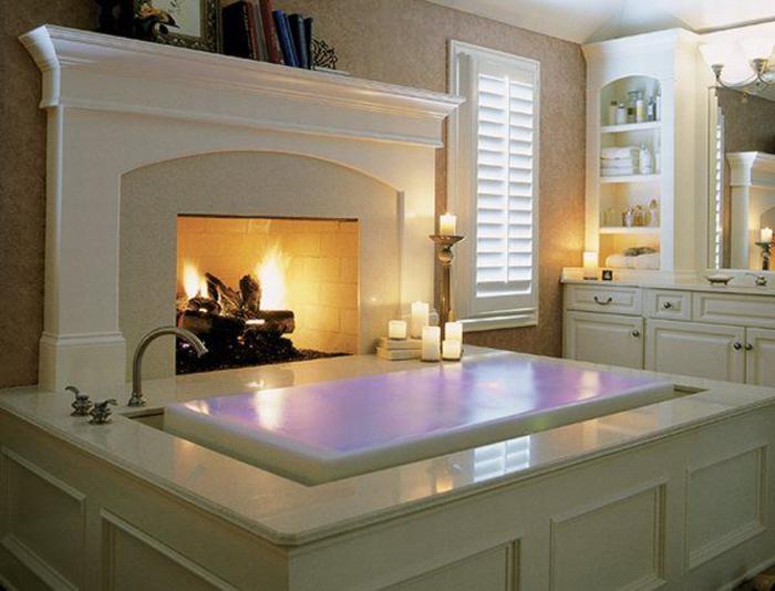 Ванна для любителей уюта.