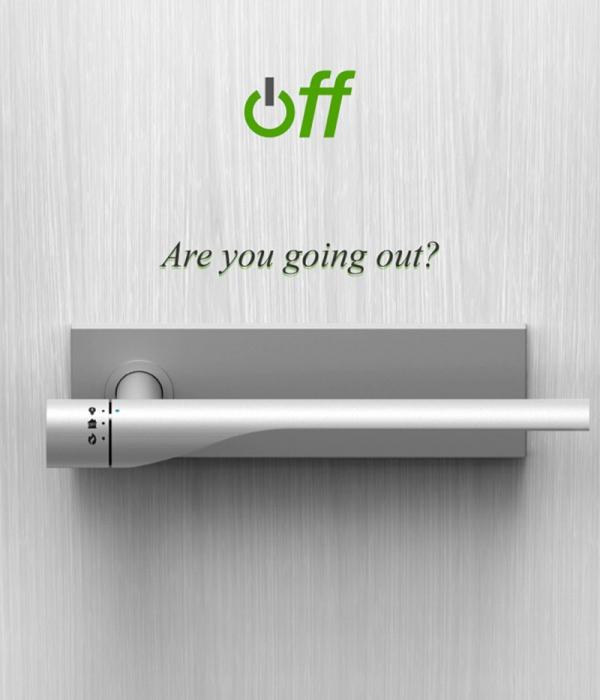 Дверная ручка, которая пригодится рассеянным людям.