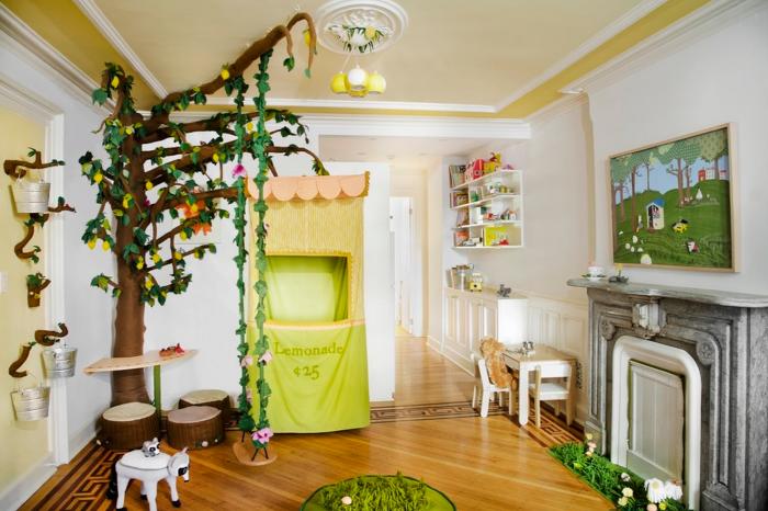 Замечательные варианты дизайна комнат с подвесными качелями.