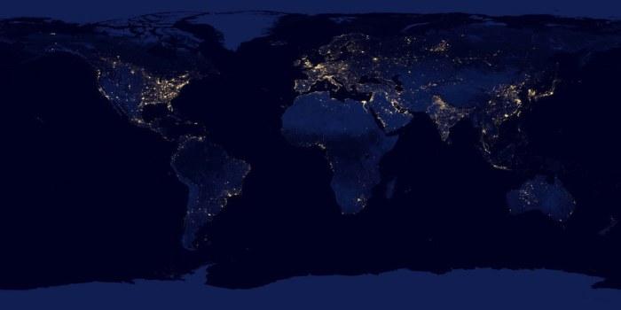 Ночь на Земле.