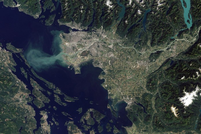 Красота города Ванкувер в Канаде.