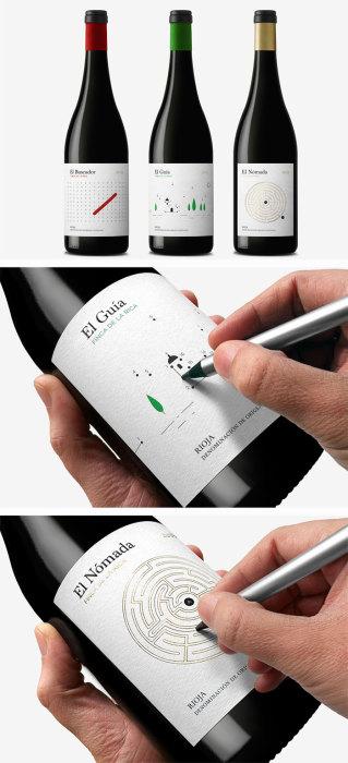 На наклейке на каждой бутылке вина есть небольшая головоломка или раскраска.
