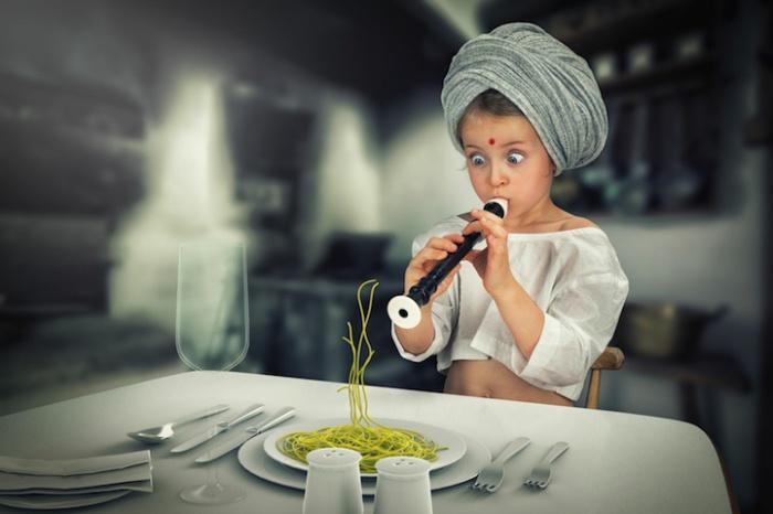 Необычный фотопортрет маленькой дочки.