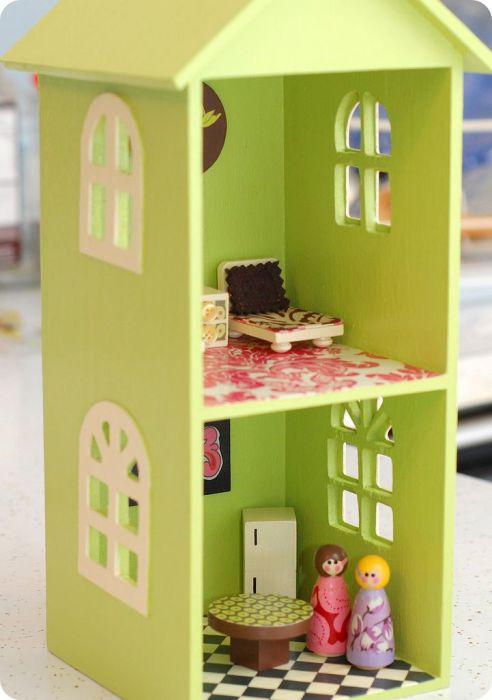 Как сделать маленький домик игрушечный своими руками 93