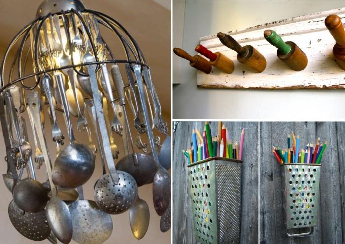 Способы повторного использования старой кухонной утвари.