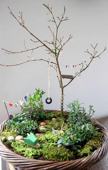 В таком волшебном садике можно посадить несколько растений, которые потом будут использоваться во время готовки.