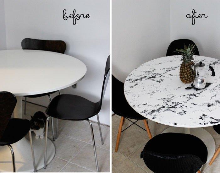 Преображение стола, которое не останется незамеченным.