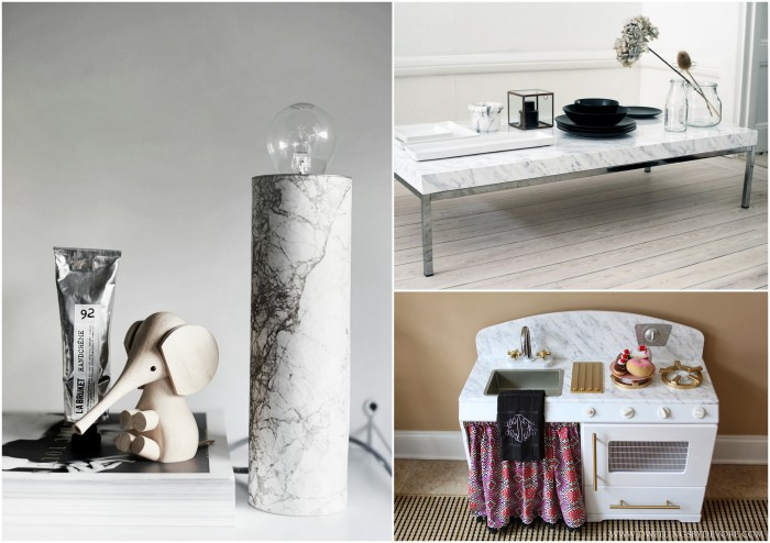 «Мраморная» мебель и аксессуары.