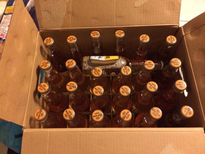 Небольшой подарок от производителя пива.