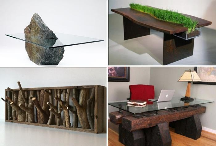 10 примеров дизайна мебели из натуральных материалов.