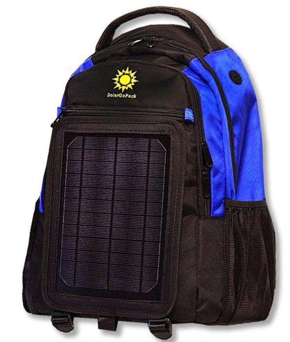 Полезный рюкзак, в комплектацию которого входят солнечная батарея, аккумулятор и зарядное устройство.