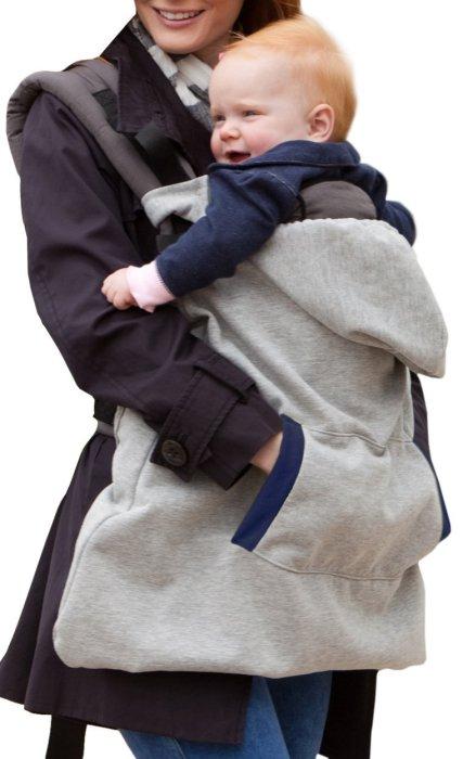 Теплое худи, которое защитит то холода и маму, и ребенка.