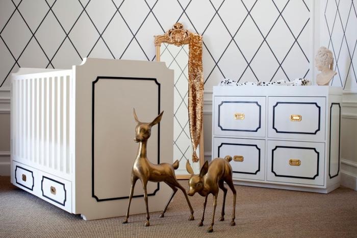 Детская комната з изящным дизайном.