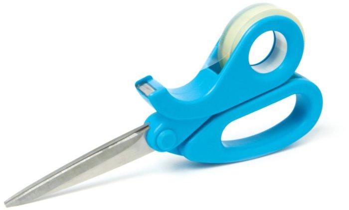 Удобная комбинация скотча и ножниц.