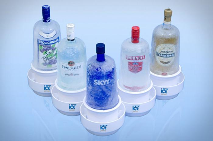 Подставка для охлаждения бутылок с алкоголем.