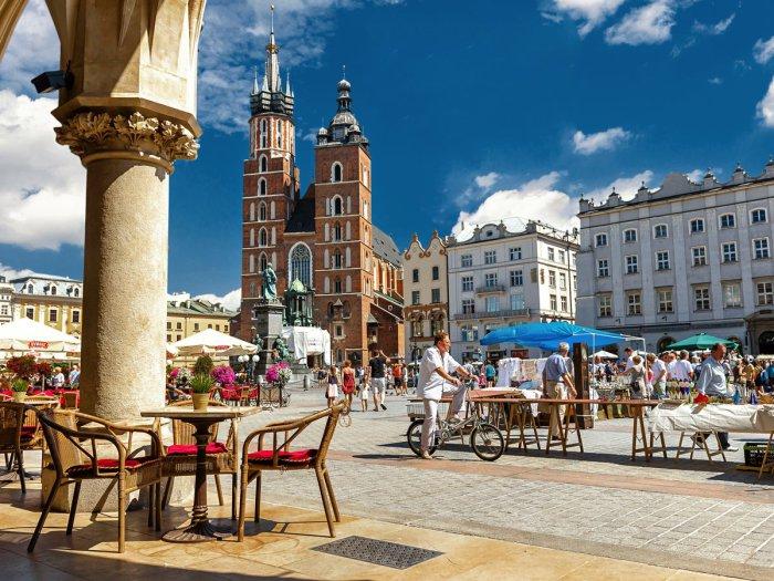 Старая Рыночная площадь в Кракове.