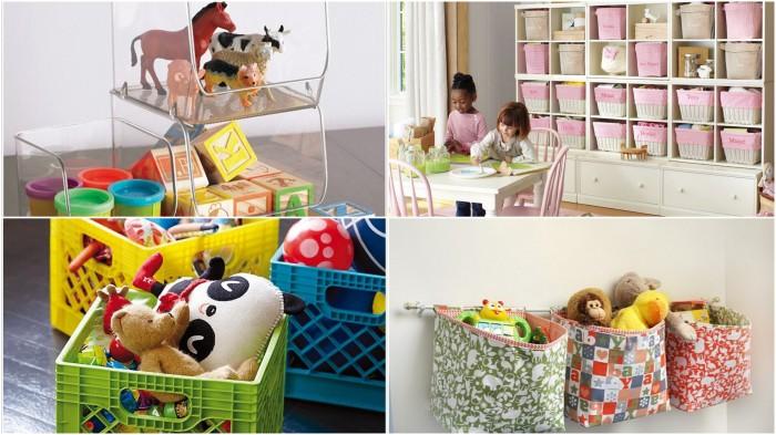 Лайфхаки по хранению детских вещей и игрушек.