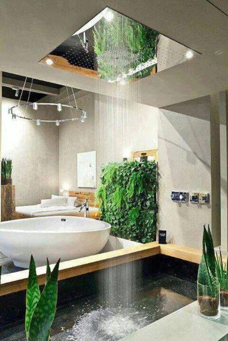 Ванна в тропическом дизайне фото