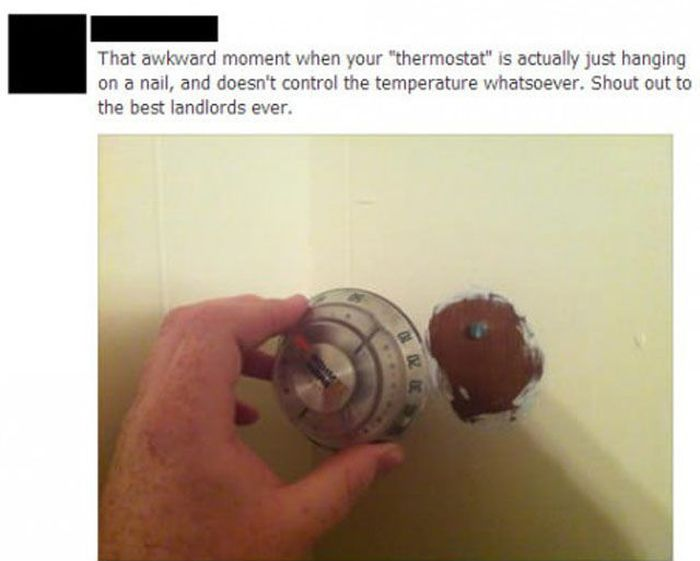 Чтобы  обмануть квартиросъемщика, достаточно повесить муляж термостата.