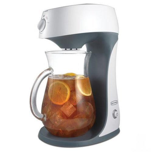 Машина, которая заваривает чай по принципу кофеварки.