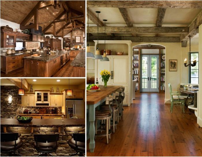 Уникальные идеи дизайна кухни в деревенском стиле.