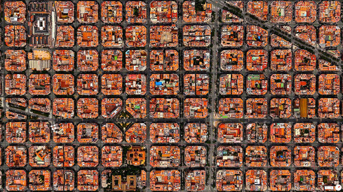 Барселона, вид сверху.