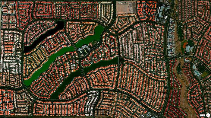 Жилой район в Лас-Вегасе.