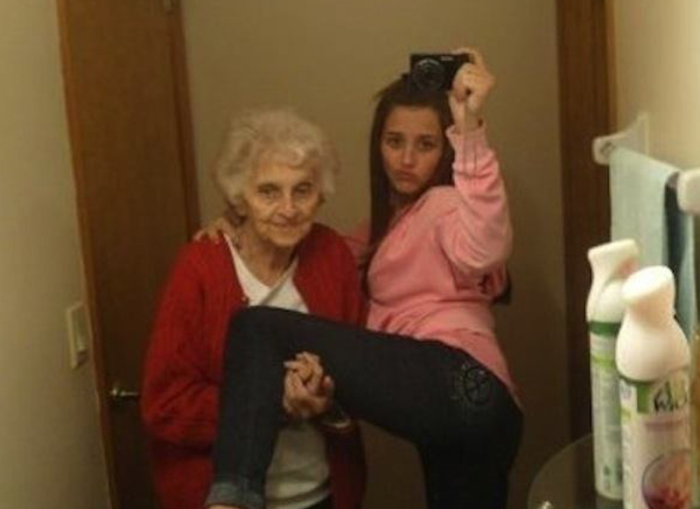 Бабушки также хотят быть в тренде.
