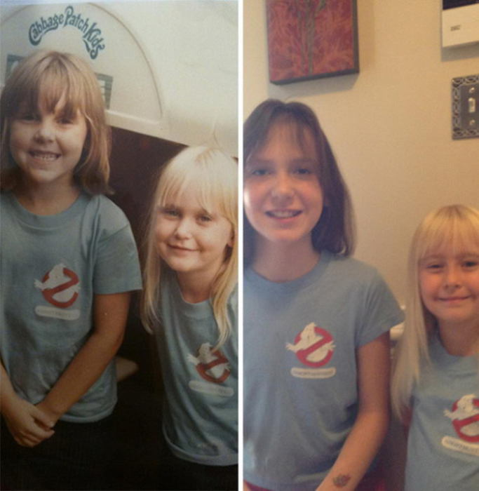 Чудесное сходство двух сестер и двоюродных сестер.