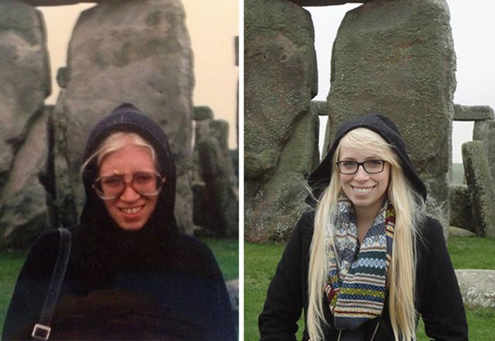 Дочь, путешествующая по тем же местам, по которым когда-то путешествовала ее мать.