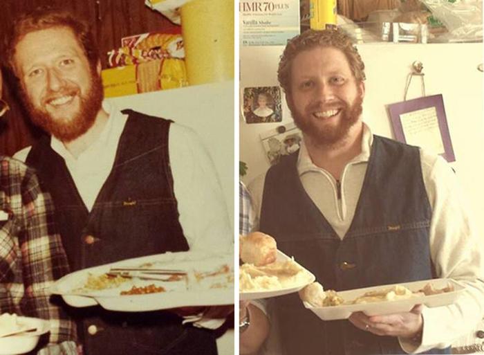 Бородатый отец и его бородатый сын, которых не отличить друг от друга.