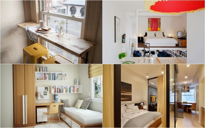 Замечательные способы оформления небольшой квартиры.