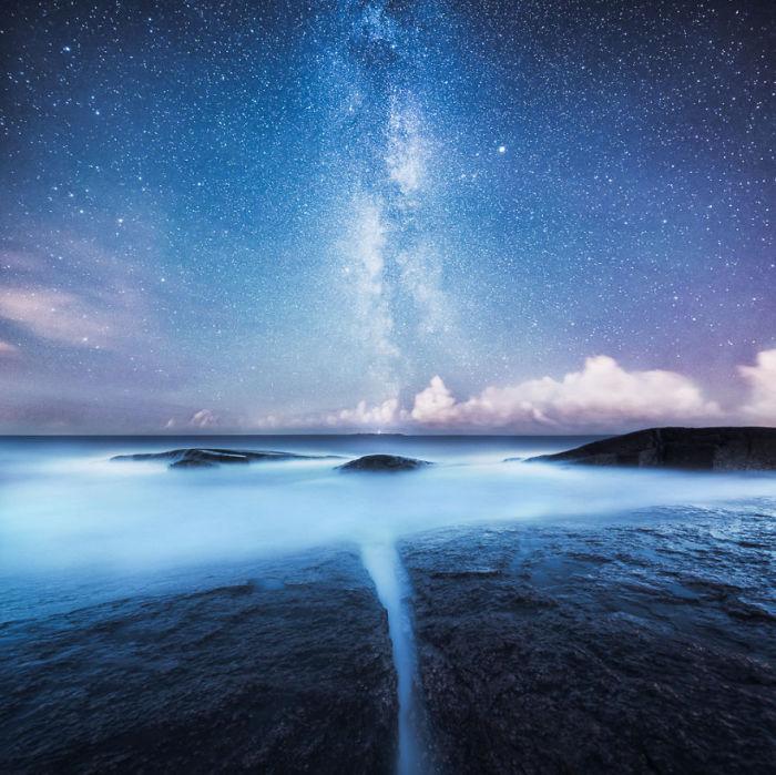 Замечательный ночной пейзаж.