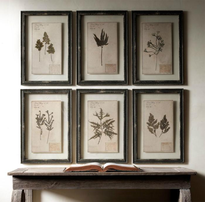 Обрамленный гербарий - прекрасный способ освежить и украсить прихожую.