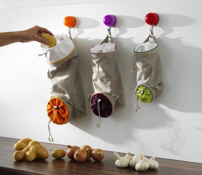 Мешочки для овощей и фруктов.
