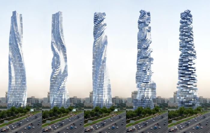 Спиралевидная башня.