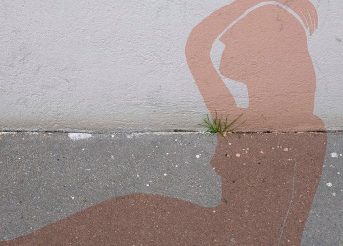 Стрит-арт с юмором.