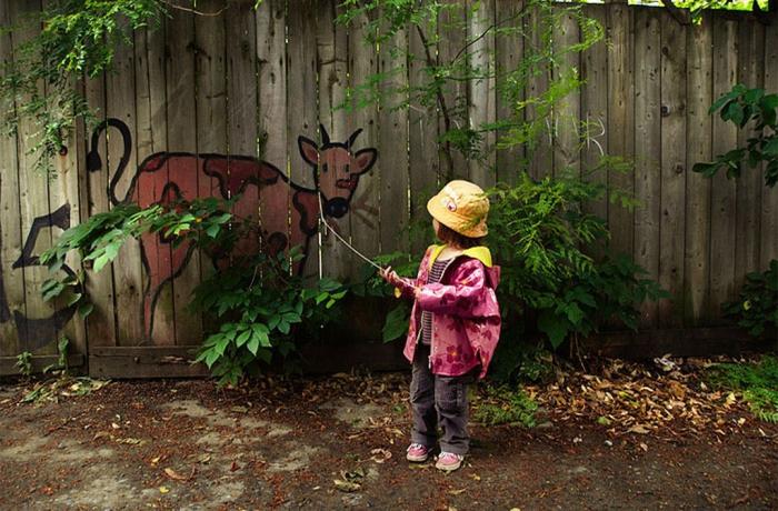 Непослушная граффити-коза.